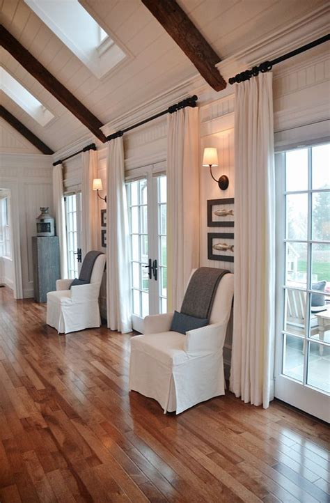 living room curtains ways refresh farmhouse window curtain treatments ceiling vaulted interesting rod patio door windows drapes treatment doors kitchen