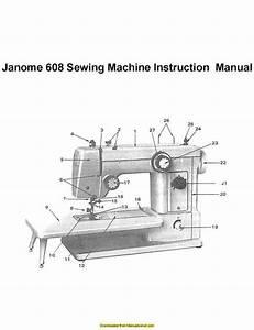 Janome 608 Sewing Machine Instruction Manual