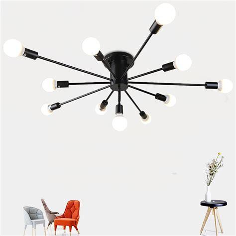 vintage metal chandelier lighting retro spider chandeliers flush mount ceiling l