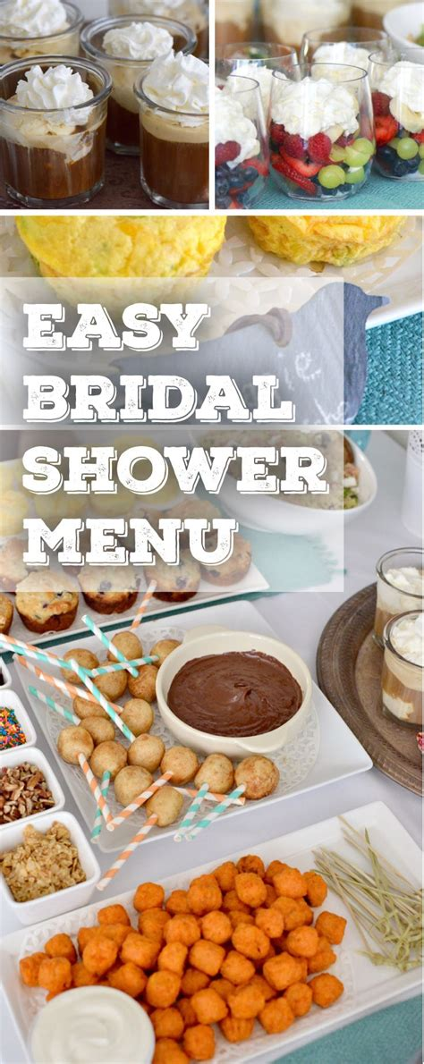 Best Food For Bridal Shower by Best 20 Bridal Shower Menu Ideas On