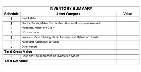 rental inventory templates  sample