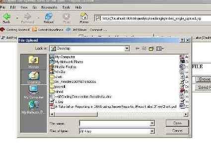 upload image using jsp code