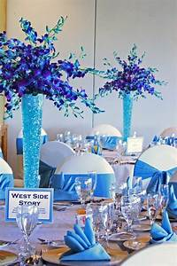 our purple and turquoise floral centerpieces and turquoise With turquoise wedding centerpiece ideas