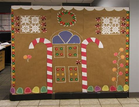 giner bread cubicle christmas decorations 27 best office decorating contest images on cubicle decorations