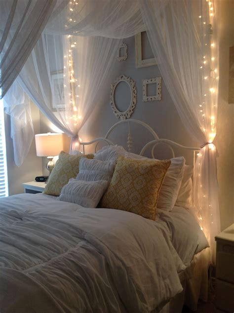 Bedroom Canopy by Gray Walls Using Behr Gentle Canopy And White
