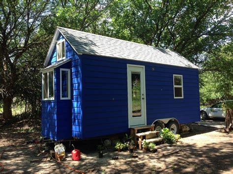 diy small house another diy tiny home on wheels the tiny blue house