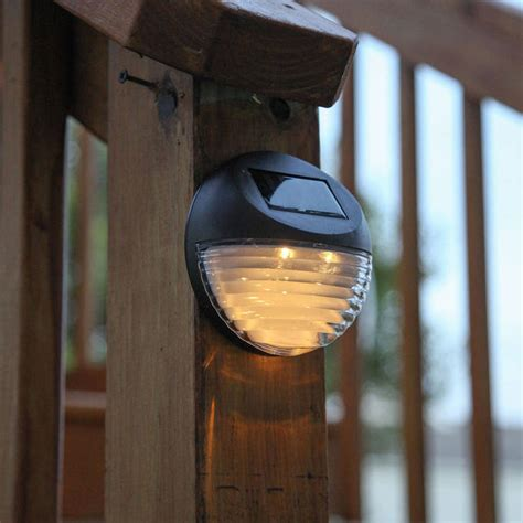 lights solar solar wall brown solar fence lights