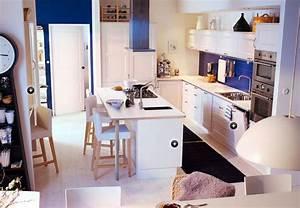 Modeles Cuisine Ikea : exemple de mod le de cuisine ikea cuisine de chez ikea avec lot central cuisine ~ Dallasstarsshop.com Idées de Décoration