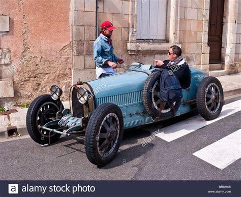 bugatti type  racer  public road france stock