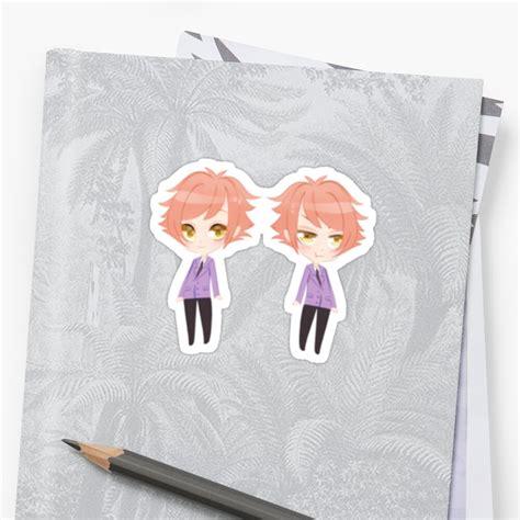 hikaru and kaoru chibi stickers by poshons redbubble