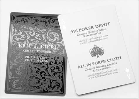 poker depot business card design  images
