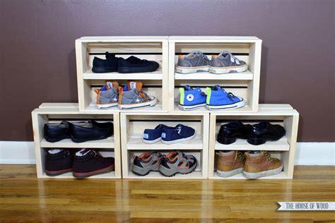 easy shoe storage display  house  wood