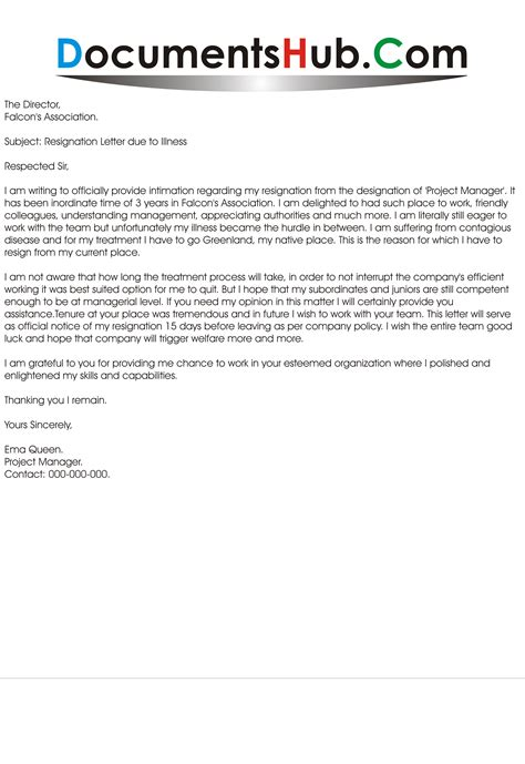 sle letter of resignation resignation letter due to illness sle 28 images