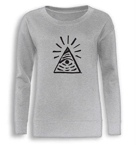 Illuminati Sweatshirt Illuminati Sign Is Strange Fitted S Sweatshirt