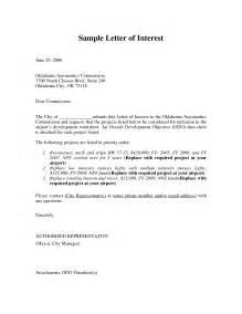 resume and letter of interest letter of interest format letter of interest position sle and letter of interest