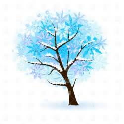 stylized winter tree vector image 8550 rfclipart