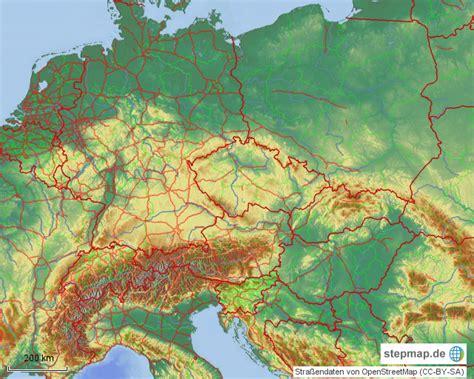 mitteleuropa relief lowres von tiberiax landkarte fuer