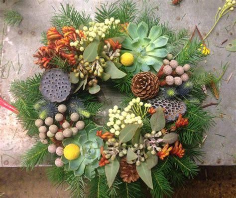 artificial australian native christmas wreath australian themed wreath wreaths colour concepts