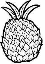 Pineapple Coloring Pages Printable sketch template
