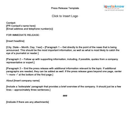 press release email template how to write press releases