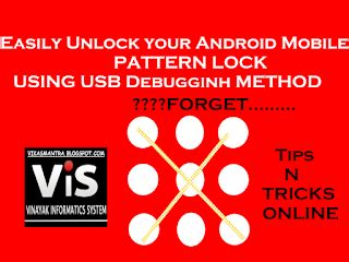 easy steps to unlock android mobile pattern lock usb