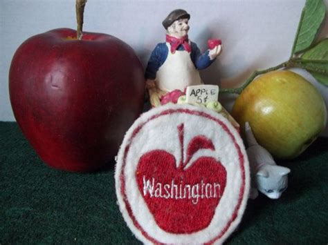 Washington State Apple commission logo patch by ...