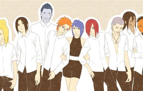 Обои Deidara, Yahiko, Sasori, Konan, Naruto, Itachi, Hidan