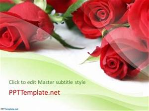 Microsoft Powerpoint Themes 2010 Free Rose Flowers Ppt Template