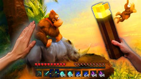 Realistic Minecraft Realistic Donkey Kong In Minecraft