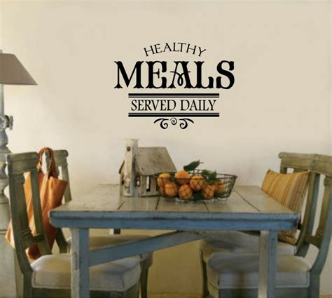 healthy meals served daily kitchen decor words vinyl decal