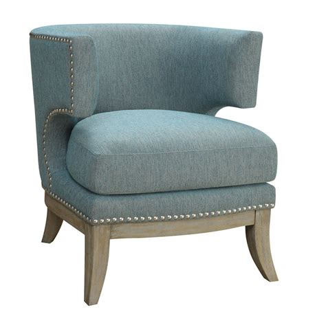 blue contemporary barrel back accent chair coaster 902558