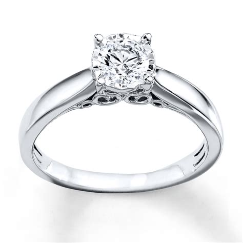 Radiant Reflections Ring 1/2 Carat Diamond 10K White Gold