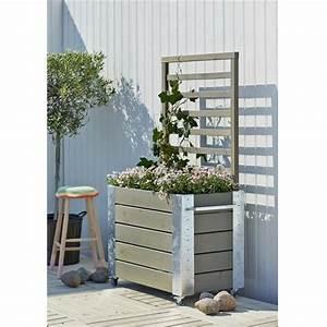 cubic jardiniere design rectangulair avec treillis sur With chambre bébé design avec fleurs de bac