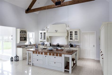 Handcrafted bespoke kitchen handpainted in white and