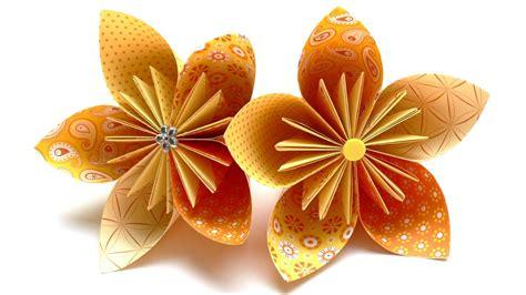 origami blumen falten  fleurogami bluete youtube