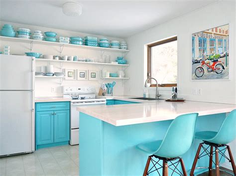 hometalk budget friendly turquoise kitchen makeover