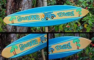 Original Made in Hawaii Decorative Surfboards, Decorative
