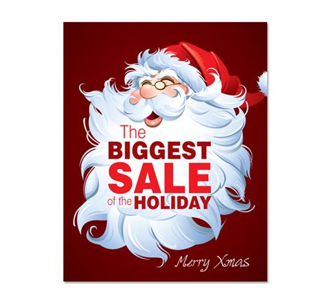 santa claus sale poster template