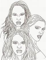 Vampire Coloring Pages Blood Suckers sketch template