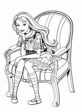 Pages Coloring Children Years Barbie Print Cute sketch template