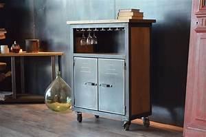 Petit Meuble Bar : simple meuble bar bois m tal de style industriel roulettes petit meuble bar ikea with petit ~ Teatrodelosmanantiales.com Idées de Décoration