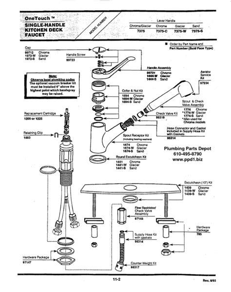 how to disassemble a moen kitchen faucet moen single handle kitchen faucet