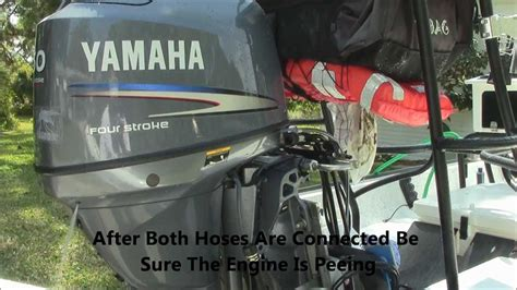 flushing yamaha outboard boat engine