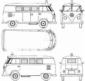 volkswagen microbus 1960 1963 model sheet blue print With 1949 chevy step van