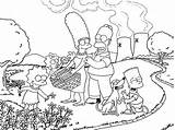 Simpsons Coloring Pages Vacation Simpson Printable Bart Bartman Getcoloringpages Sketch Template sketch template