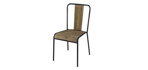 chaise metal industriel pas cher chaise industriel pas cher fauteuil en mtal et pin lina