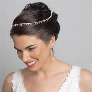 gold clear bridal wedding hair headband