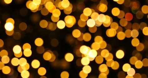 abstract background yellow bokeh lights stock footage
