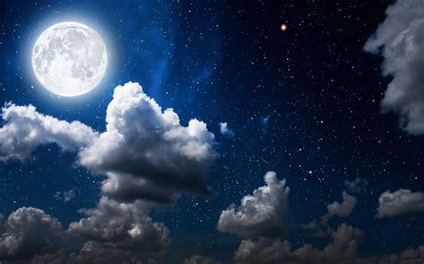 wallpaper moon clouds sky full moon hd nature