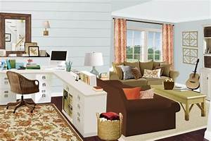 Home working with style by creative living room office for Home office in living room